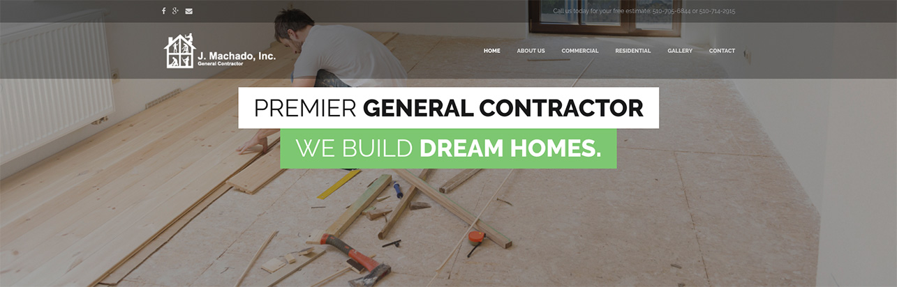 J machado inc general contractor san for How to be your own general contractor